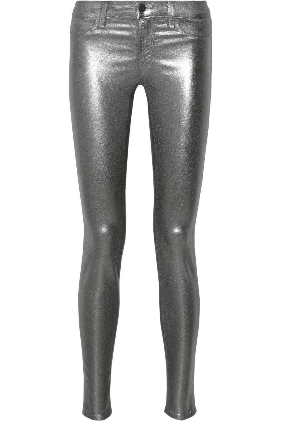 J Brand|815 coated mid-rise skinny jeans|NET-A-PORTER.COM