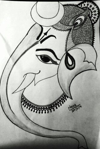 Ganesh Ji Sketch | Pencil Sketches | Pinterest | Ganesh Sketches And Pencil Shading