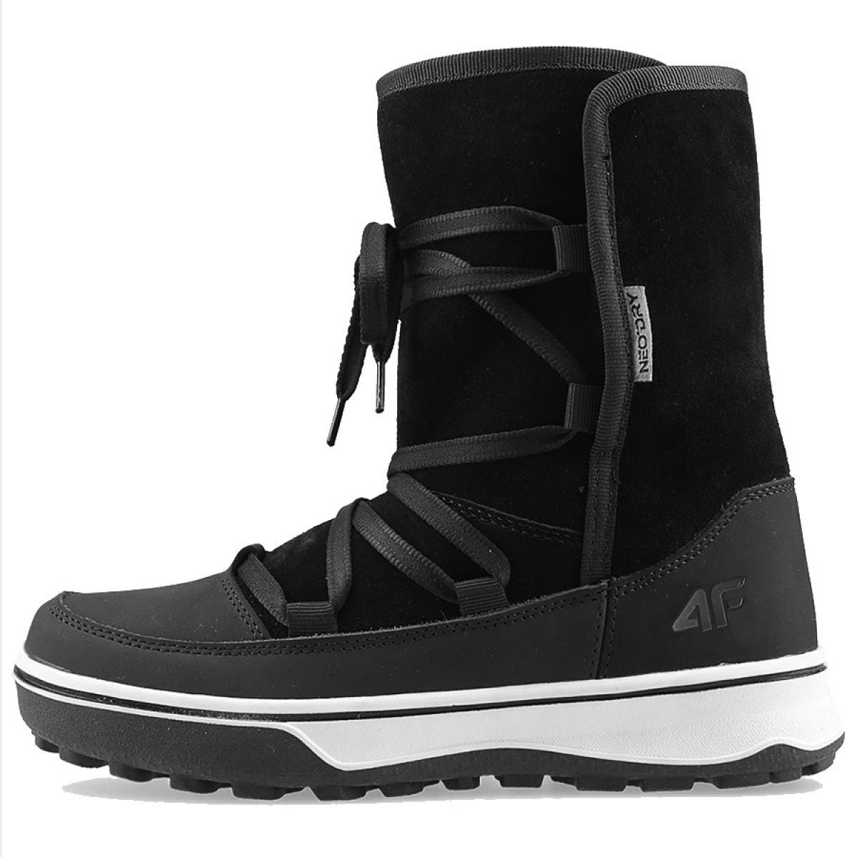 Buty Zimowe 4f W D4z19 Obdh201 21s Czarne Winter Shoes For Women Winter Shoes Sport Shoes Women