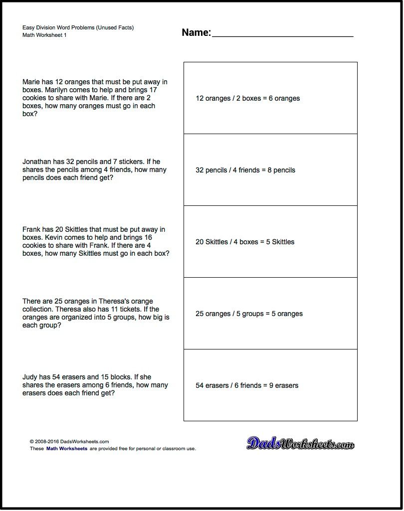 Worksheets 3rd Grade Math Problem Solving Worksheets word problems extra facts division ideas for the problems