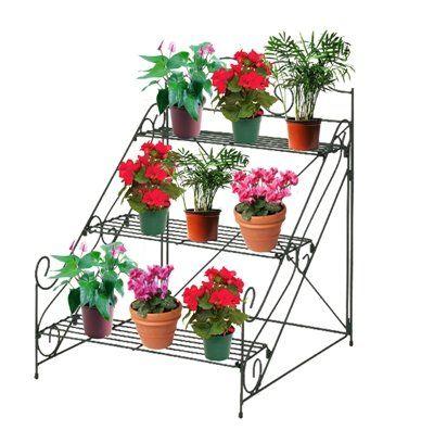 3 Tier Plant Pot Stand Amazon Co Uk Garden Amp Outdoors