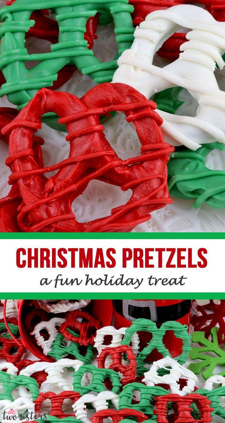 Christmas Pretzels #holidaytreats