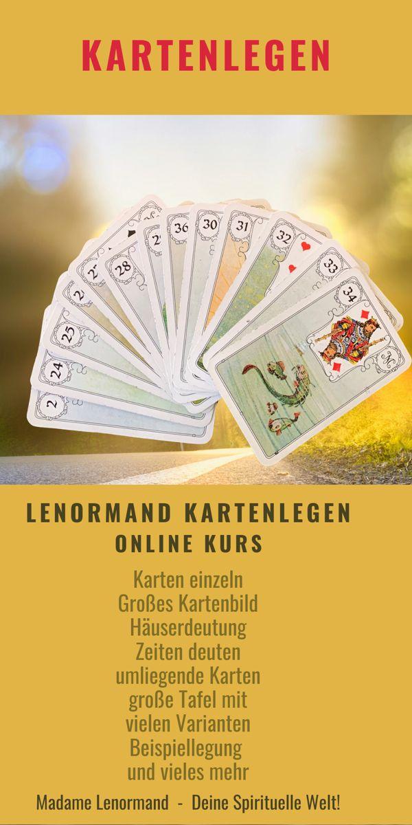 Kartenlegen lernen im online Kurs - schau rein und mach
