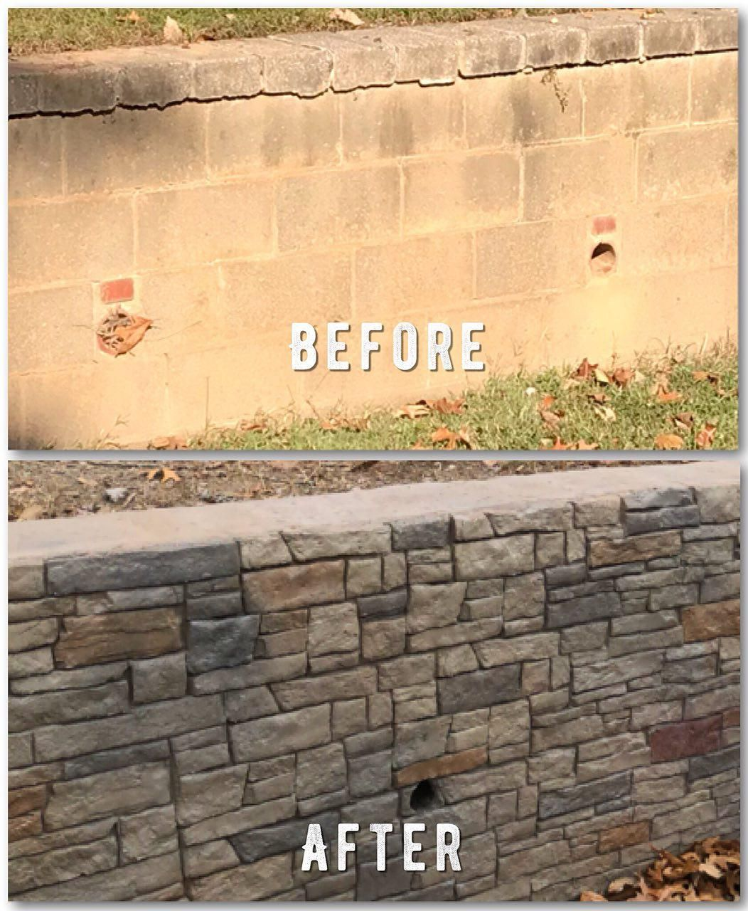 Transform ugly retaining wall to extraordinary beauty! CALL NOW FOR ...