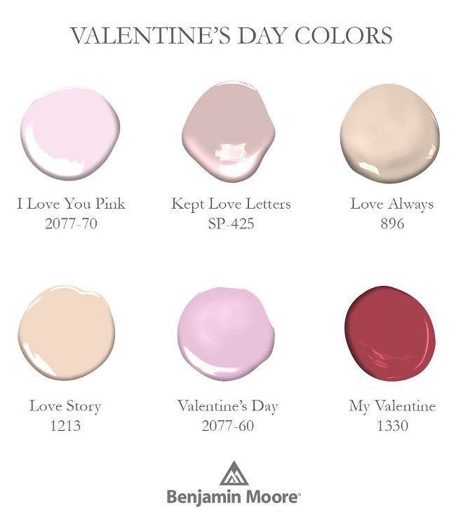 Lovely Paint Colors By Benjamin Moore I Love You Pink 2077 70 Kept Letters Sp 425 Always 896