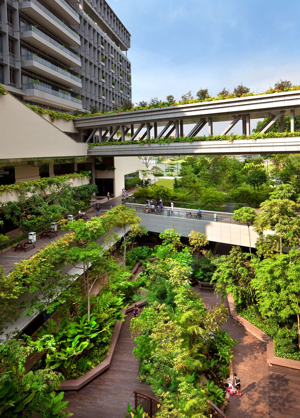 Khoo Teck Puat Hospital in Singapore by CPG Consultants Pte Ltd - - - Excellent landscape design . . . Awful buildings.