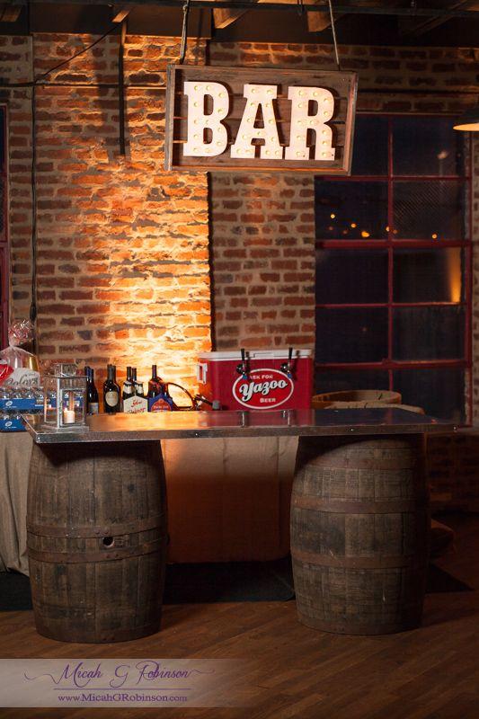 Bourbon barrels bar google search sony event pinterest for Diy whiskey barrel bar