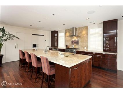 I like how everything in this kitchen is hidden! There is so much counter space!