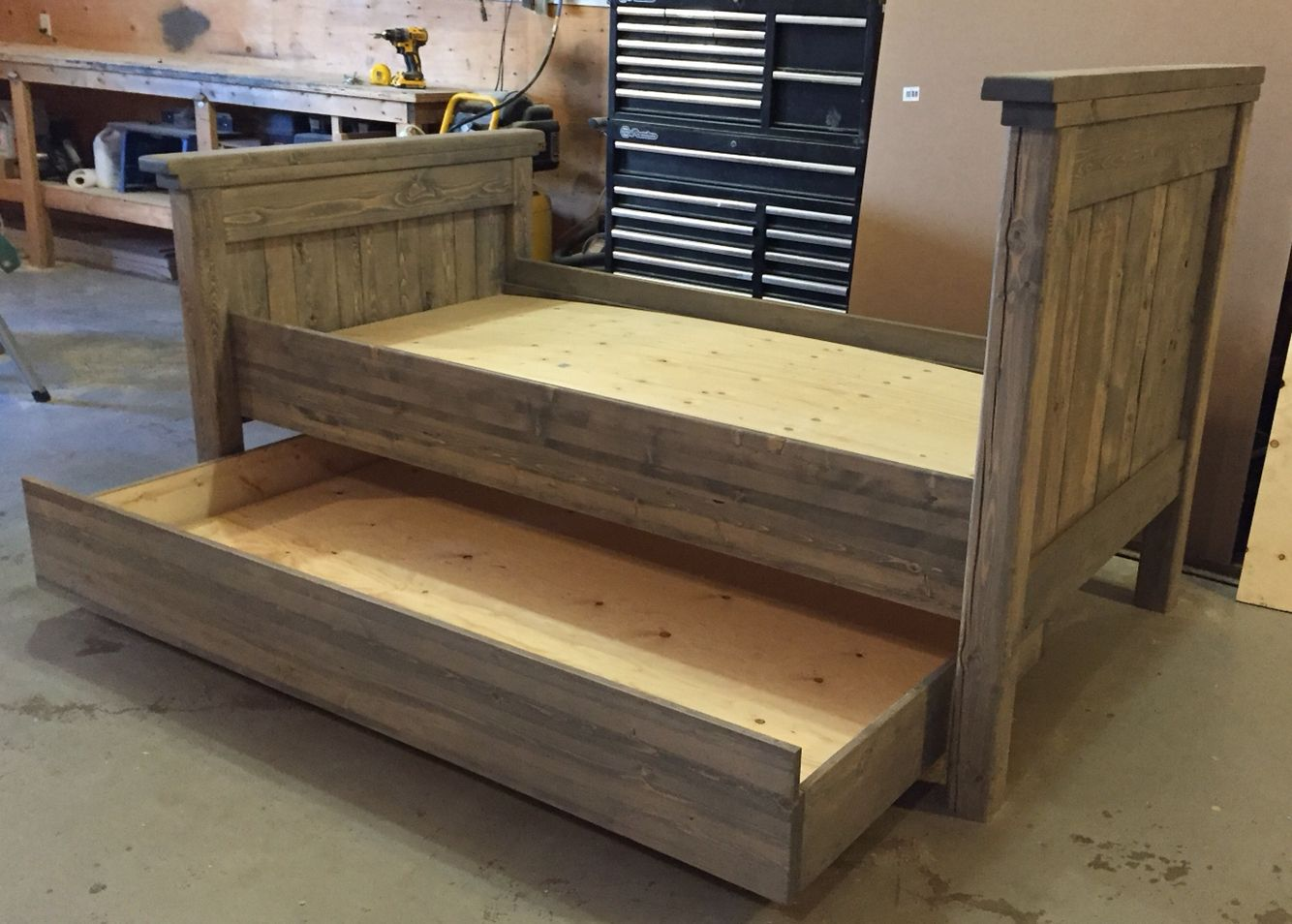 Twin Trundle Bed Custom Order J4woodworks Handmade