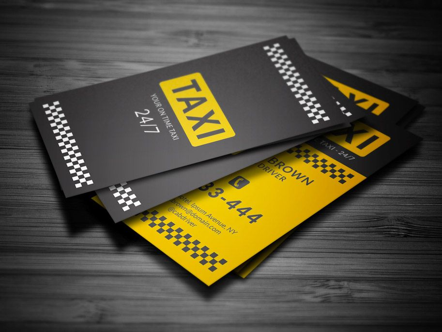 15+ Business Card Designs for Taxi Business | Pinterest | Taxi ...