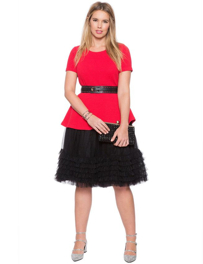 7c0a85e6f ELOQUII Layered Tulle Skirt Black   I have style, I'm just broke ...