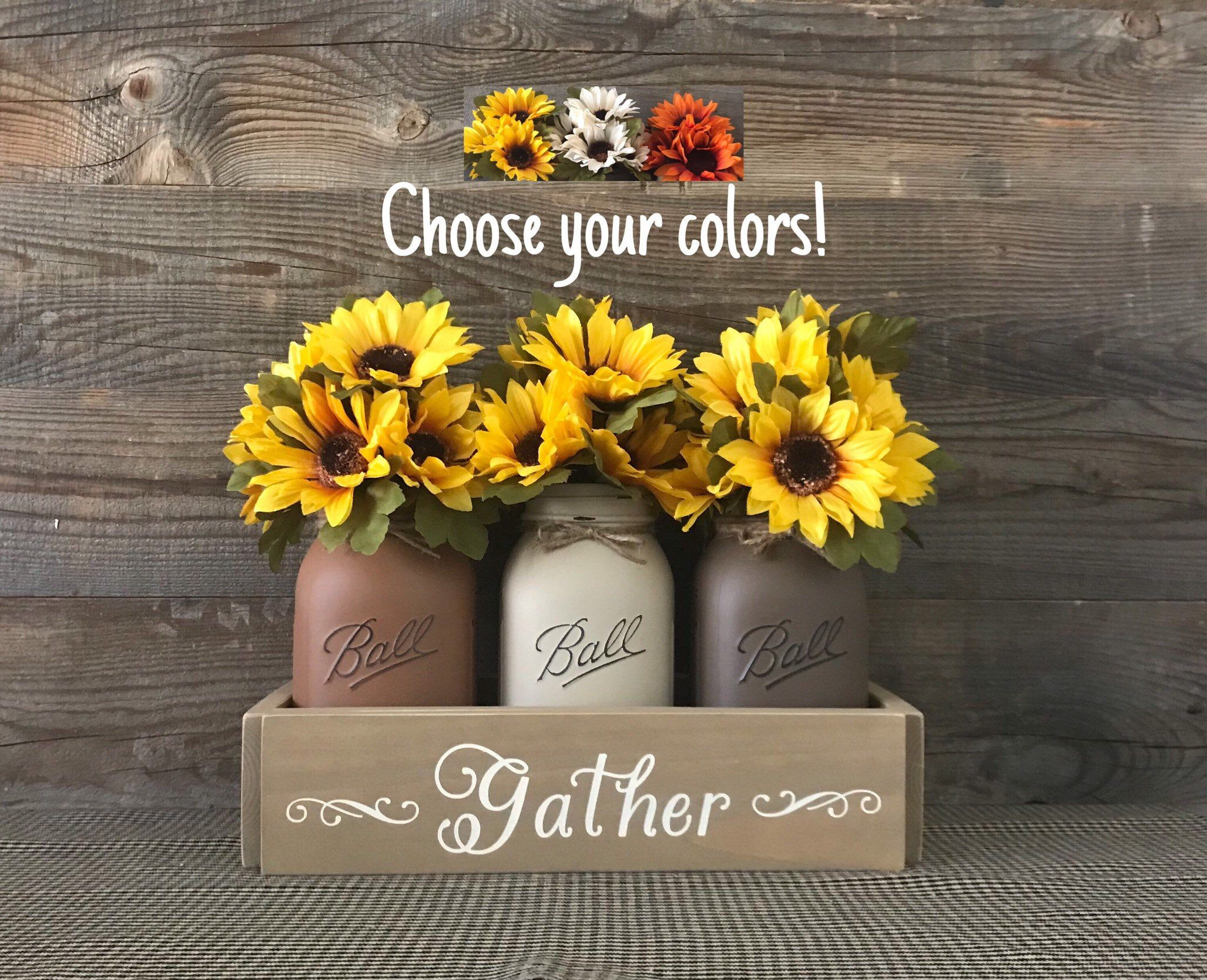 Excited To Share This Item From My Etsy Shop Fall Decor Fall Centerpiece Sunflower Decor Farmhou Mason Jar Centerpieces Sunflower Decor Pumpkin Fall Decor