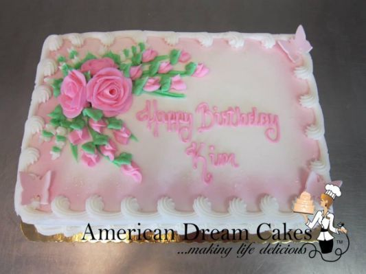 how to decorate a sheet cake