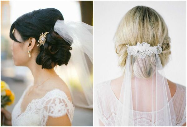 Veil Above Or Below Updo? In 2019