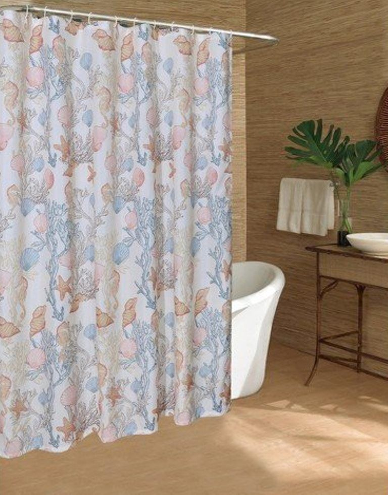 Caribbean Joe Polyduck Under the Sea - Multicolor Fabric Shower ...