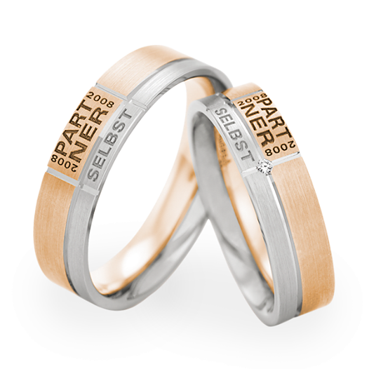 Put Your Name On It Personalised Wedding Rings For Him And Her To