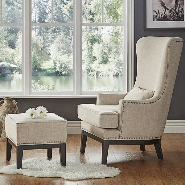 2 Piece Joshua Arm Chair Ottoman Set Chair And Ottoman Set Chair And Ottoman Wingback Chair