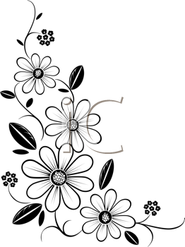 iclipart royalty free clipart image of a flower corner kece rh pinterest com  flower pattern clipart