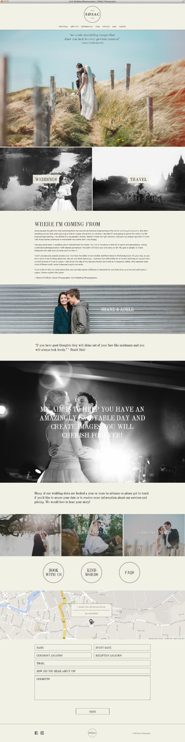 Sosac Photography Branding & Website by Cody Small, via Behance