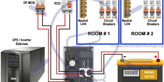 Manual Auto Ups Inverter Wiring Diagram With Changeover Switch Electrical Projects Electrical Wiring Electrical Wiring Diagram