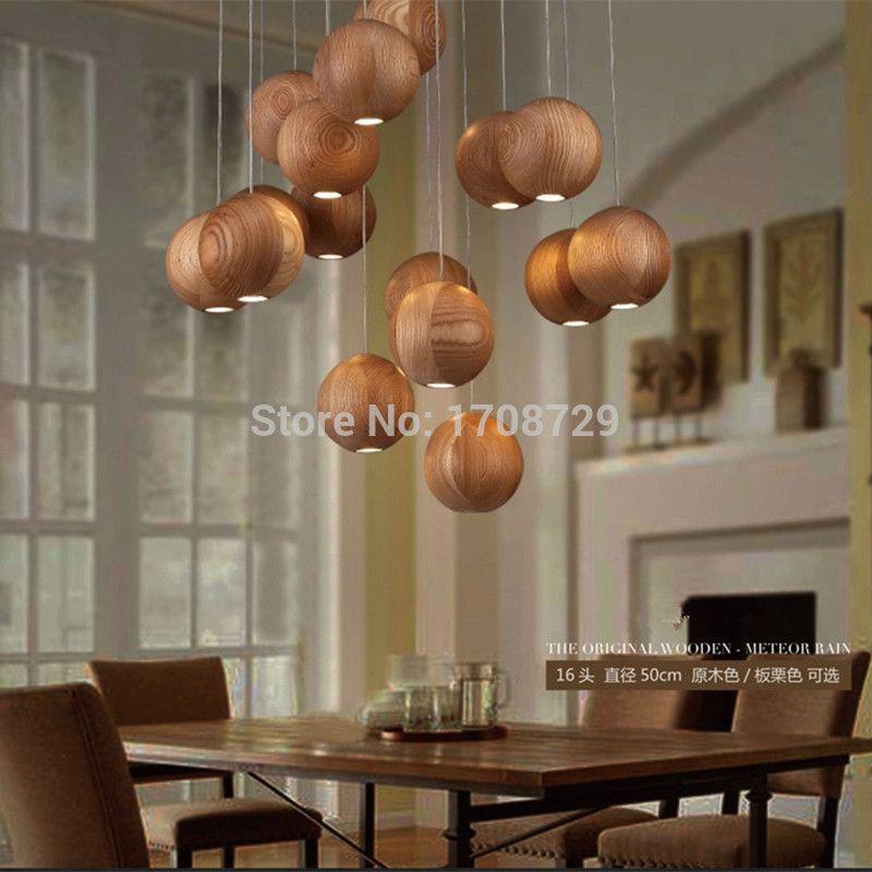 Moderne Holz Deckenleuchte Chinesischen Rural Led Lampen Laternen Von Massivholz Villa Restaurant Deckenleuchte Sphari Led Lampe Anhanger Lampen Deckenleuchten