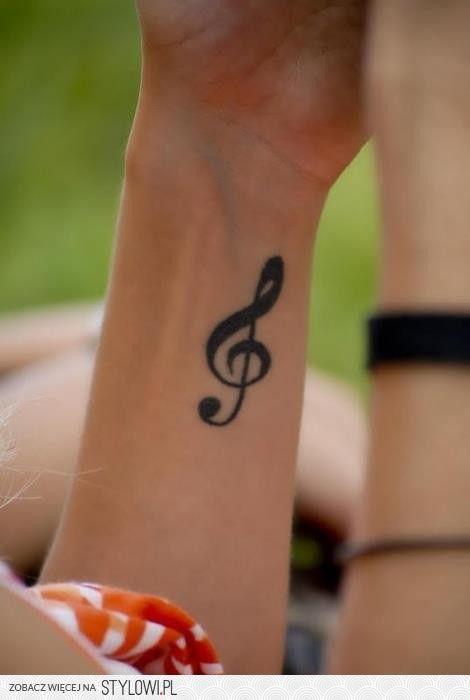 Klucz Wiolinowy Music Tatuaże Na Nadgarstku Tatuaże