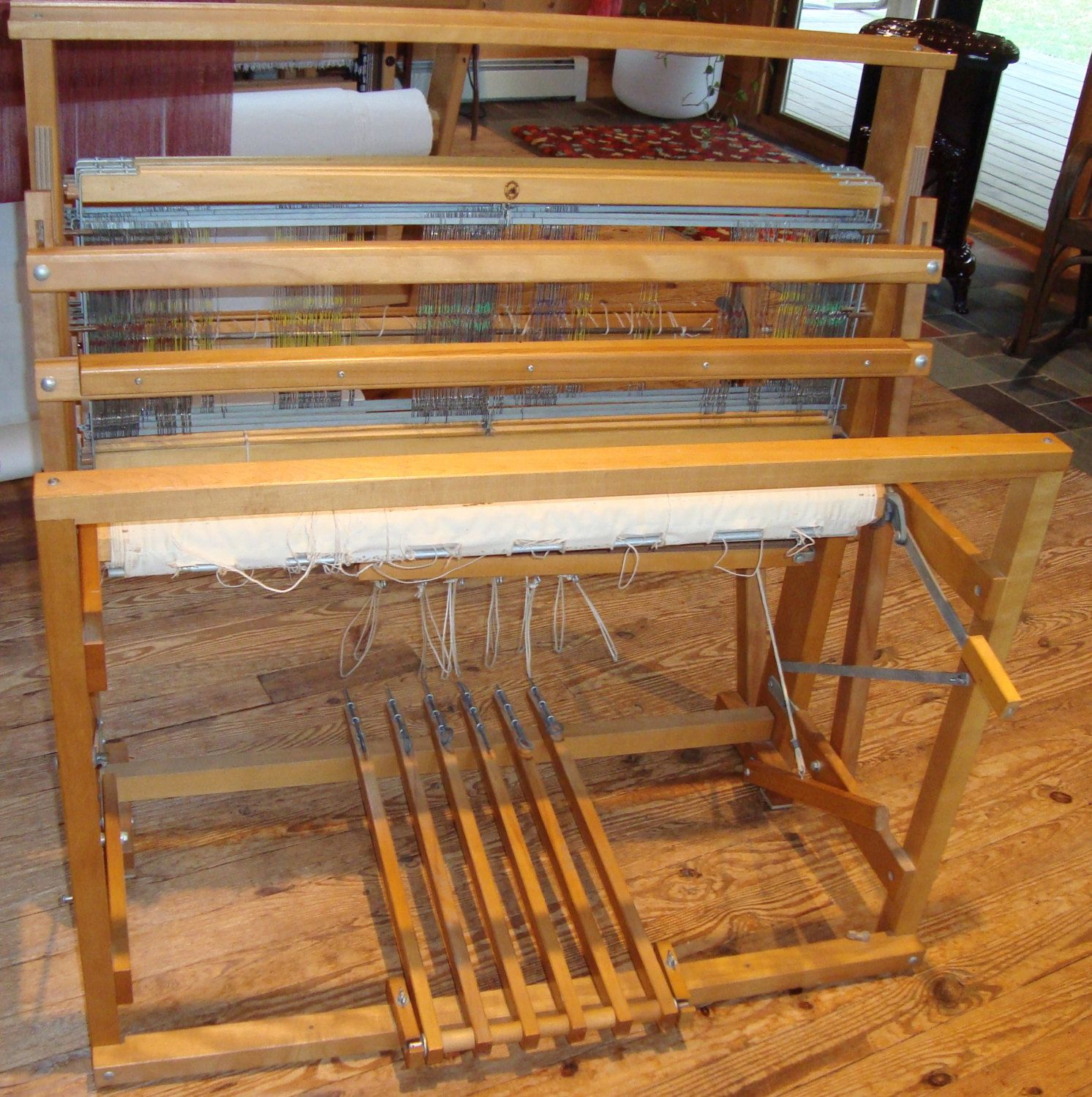 Floor Looms For Sale: 4 Harness Floor Loom