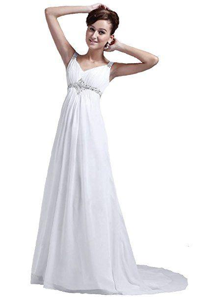 Edaier Damen Gurte V Neck Beach Hochzeit Kleid Garten ...