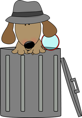 dog looking for clues in a trash can superkids church crime rh pinterest com Funny Stress Clip Art Relax Clip Art