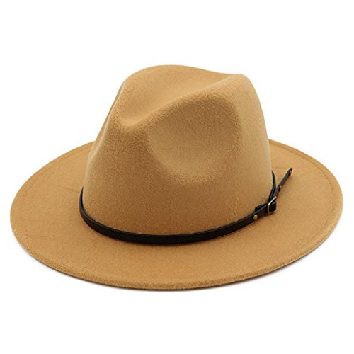 Lisianthus Womens Wool Fedora Panama Hat Wide Brim with Belt