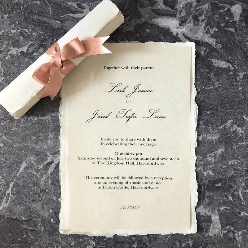 Easy DIY wedding invitation. Make your own invitation scroll with ...