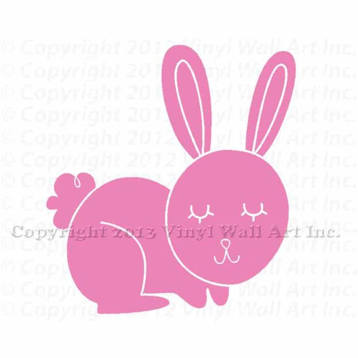 Bunny Vinyl Decal Size SMALL Home Decor Childrens Room Decor