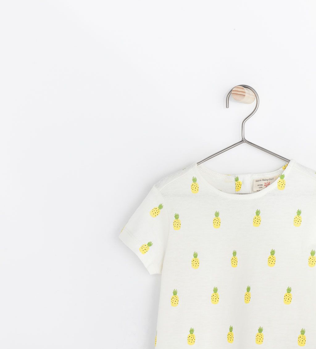 Zara Baby top with pineapple print