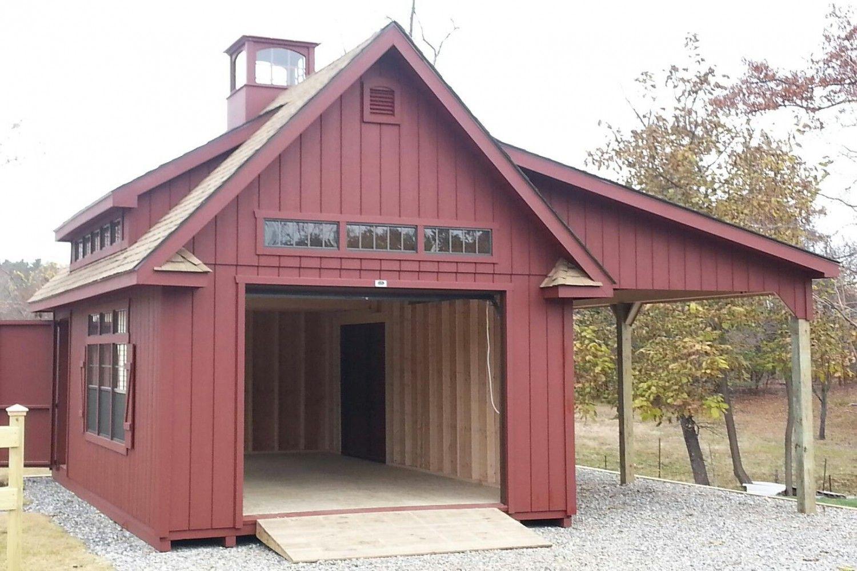 Grand victorian single bay garage photos the barn yard for Barnyard garages
