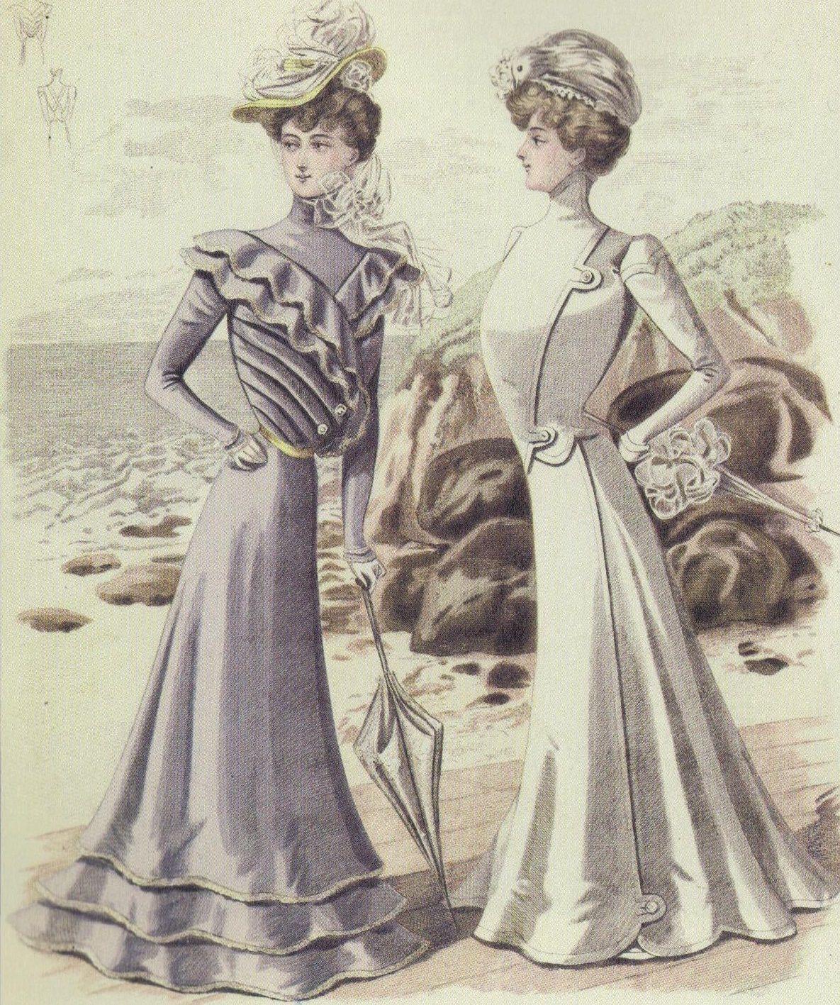 1899 Summer Dresses [ 1417 x 1185 Pixel ]