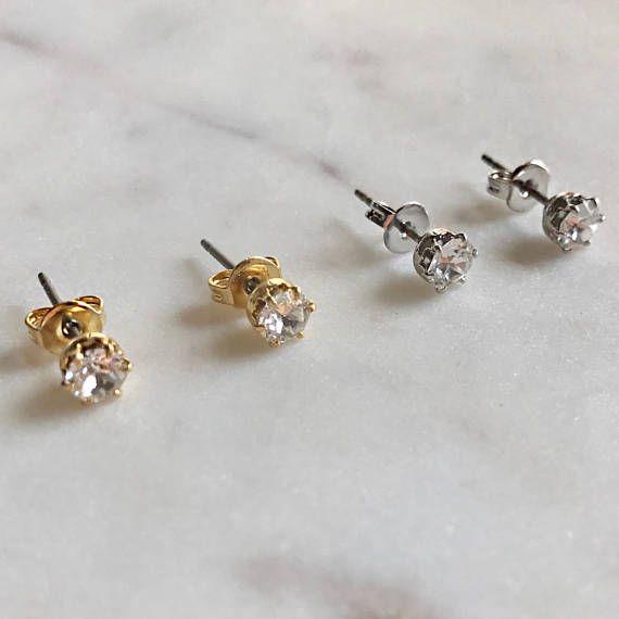 Swarovski Little Diamond Earring Silver Or Gold Basic