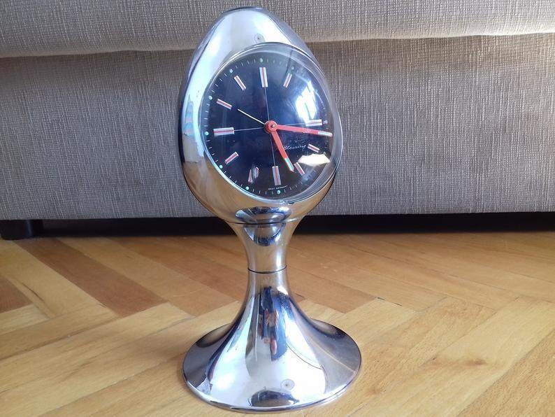 Vintage West Germany Blessing Egg Pedestal Desk Clock from ...