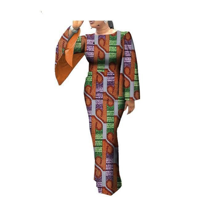 African clothes casual Women full cloak sleeve oneck anklelength women dress is part of Clothes Casual Models - Dresses Length AnkleLength Neckline ONeck Estimated Delivery Time1220days Sleeve Style Cloak Sleeves Sleeve Length(cm) Wrist Waistline Natural Silhouette Straight Decoration None Material Cotton Pattern Type Print Style Casual Private Custom Yes Material 100%Cotton Fabric Wax,Batik Lining Sleeves Number 492