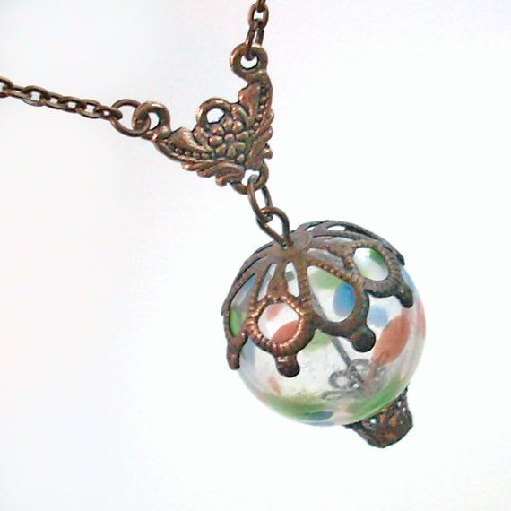 Hot Air Balloon Pendant Necklace Jewelry by TrashAndTrinkets