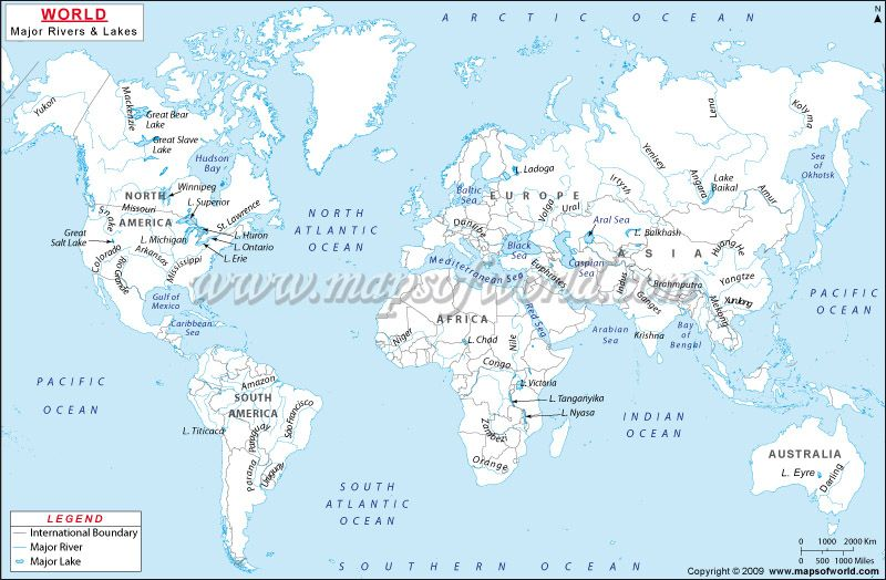 World River Map World Maps Pinterest