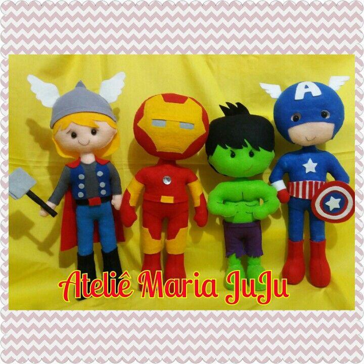 Avengers- vingadores Thor- Hulk -capitao america _homem de ferro de feltro