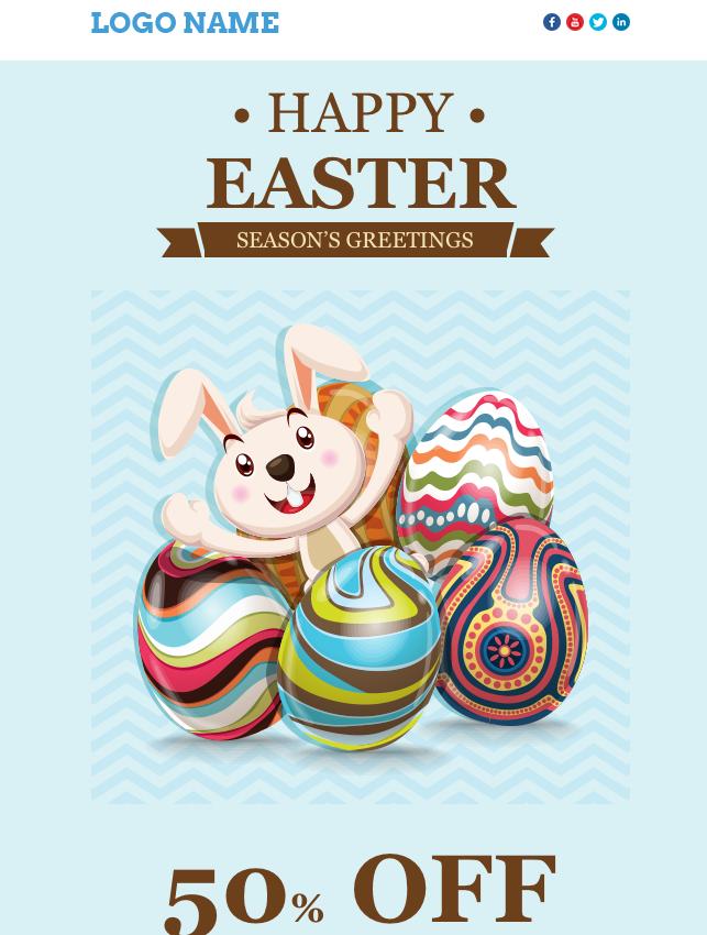 Mailigen Easter Email Template   Email Designs   Pinterest   Email ...