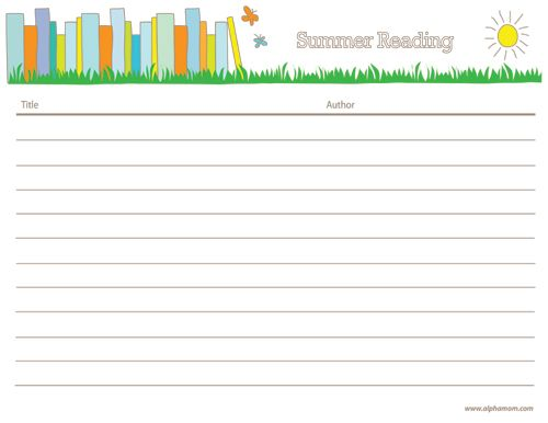 Summer Reading | Free Printable | Alphamom | Sweet.Summertime