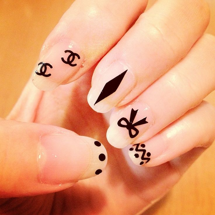 Nice chanel nail art designer inspired pinterest chanel nail manicure prinsesfo Image collections