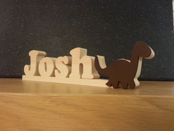 PERSONALISED Name Plaque Sign with Dinosaur  New by WoodArtGifts