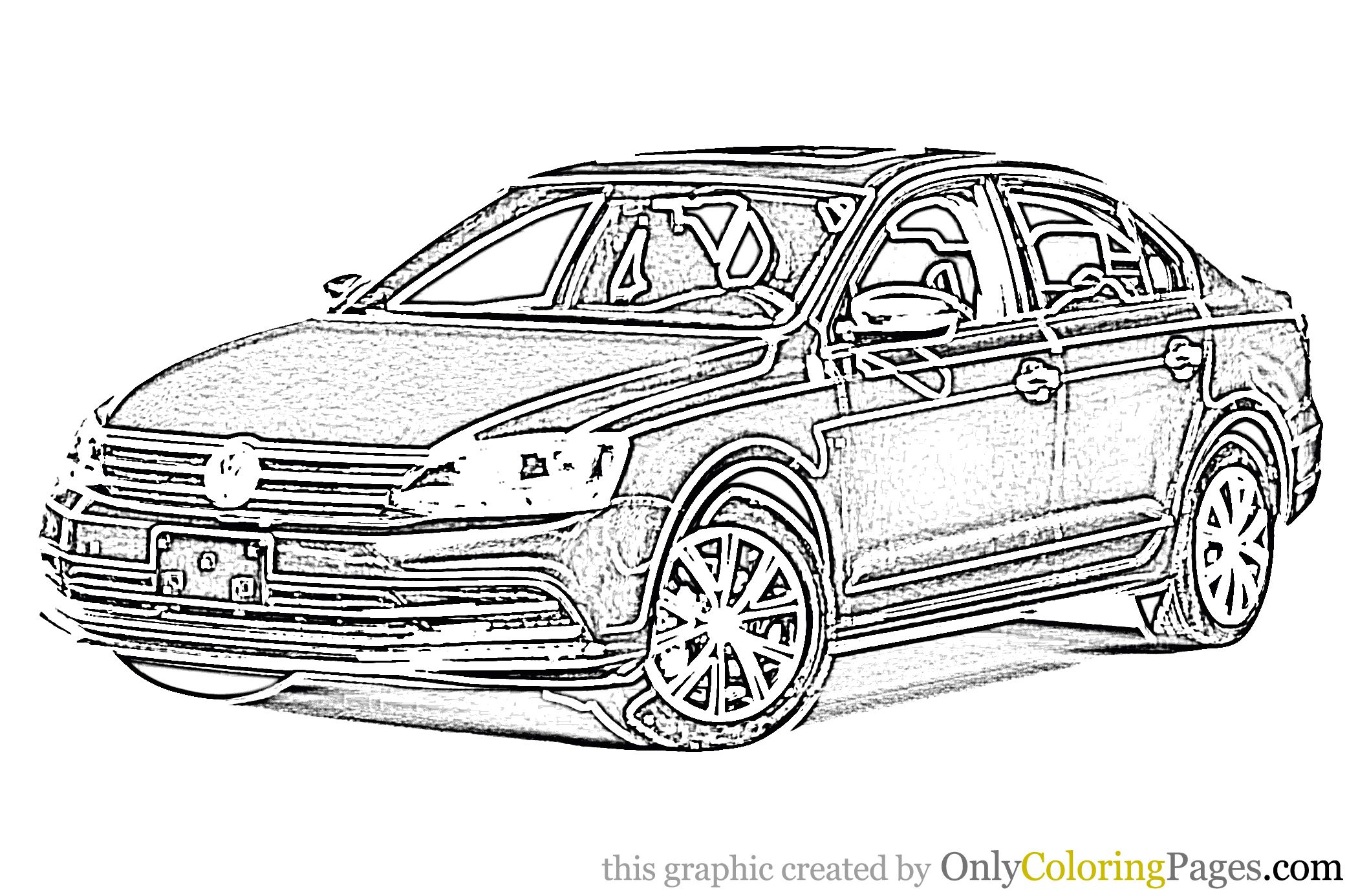 Jetta Car Coloring Page Coloringpages Coloringbook