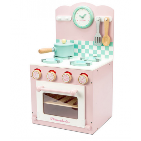 Le Toy Van Honeybake Pink Oven Hob Kitchen Set From The Well Appointed House Toy Kitchen Accessories Oven Hob Pink Wooden Kitchen