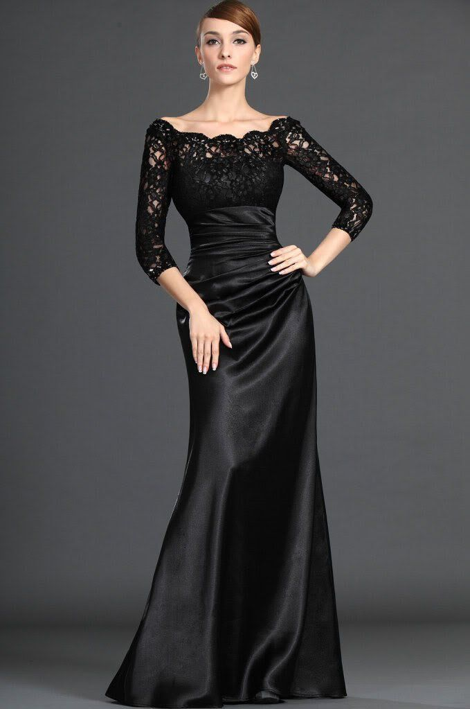 35 Beautiful Evening Dresses For Women | Sleeve, Dress black and ...