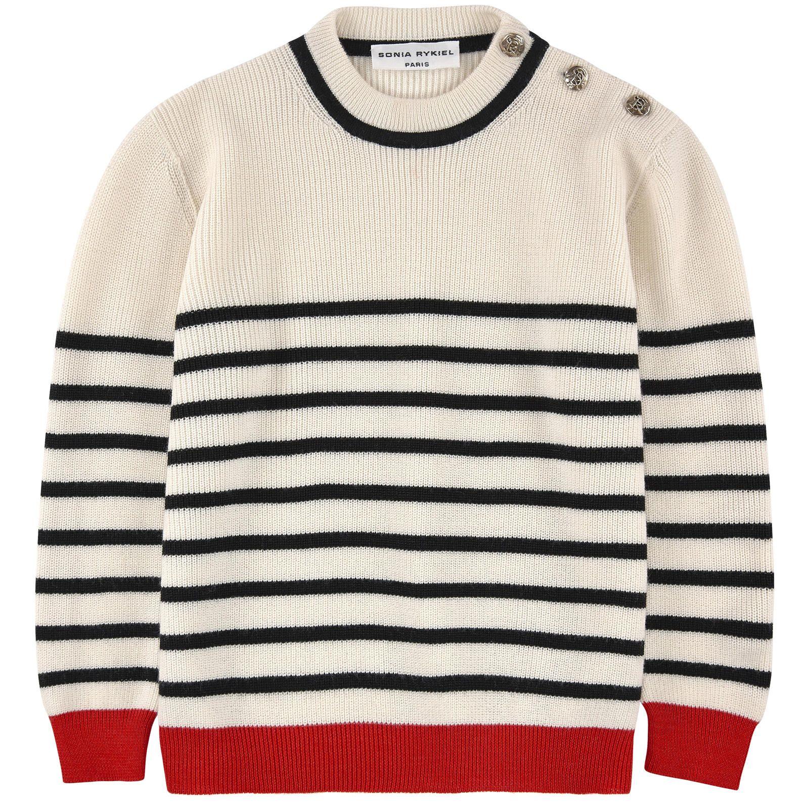 450e8e8b7c463a Sonia Rykiel Enfant Striped wool and cashmere knit sweater | Melijoe -  $186.50, orig. $373 // Love this!