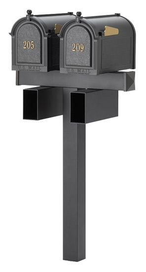 Residential Mailboxes Whitehall Decorative Curbside And Dual Post System Mailbox Mounted Mailbox Double Mailbox Post